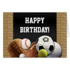 All Star Sports Birthday Custom Greeting Card