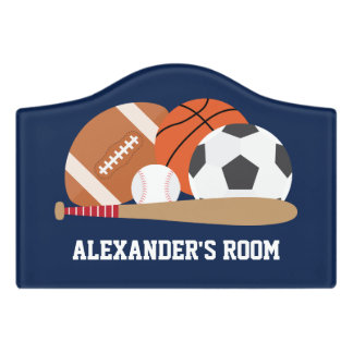 All Star Sports Kids Door Sign
