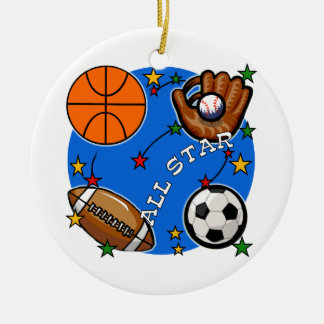 All Star Sports Tshirts and Gifts Christmas Ornament