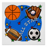 All Star Sports Tshirts and Gifts Print