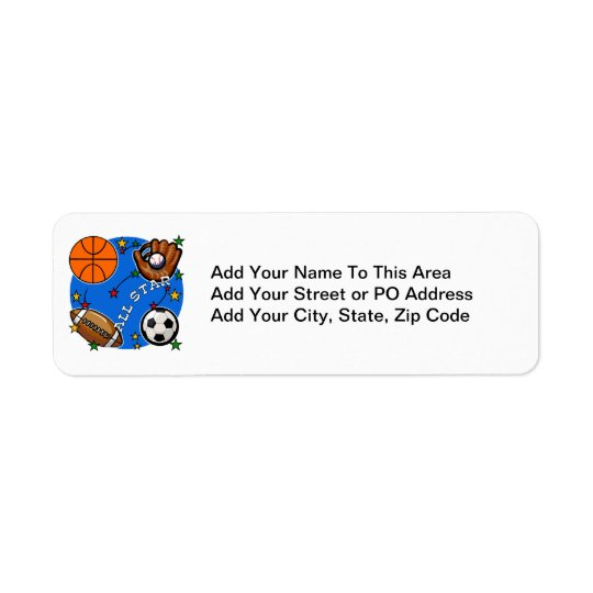 All Star Sports Tshirts and Gifts Return Address Label