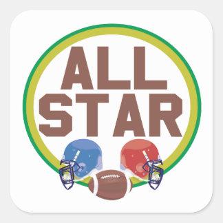 All Star Square Sticker
