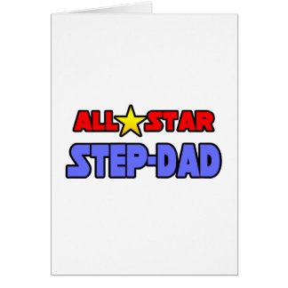 All Star Step-Dad Greeting Card