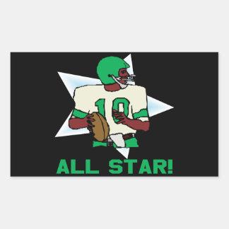 All Star Rectangular Stickers