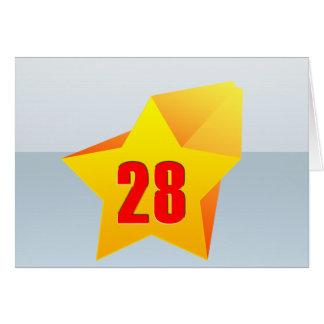 All Star Twenty Eight years old! Birthday Greeting Card