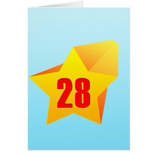 All Star Twenty Eight years old! Birthday Cards