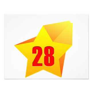 All Star Twenty Eight years old! Birthday Personalized Invites
