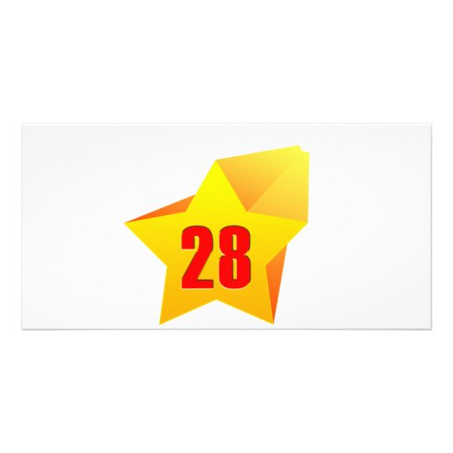 All Star Twenty Eight years old! Birthday Photo Greeting Card
