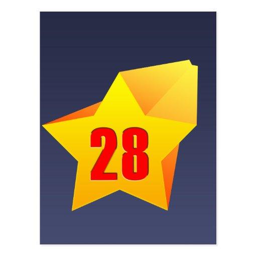 All Star Twenty Eight years old! Birthday Post Cards