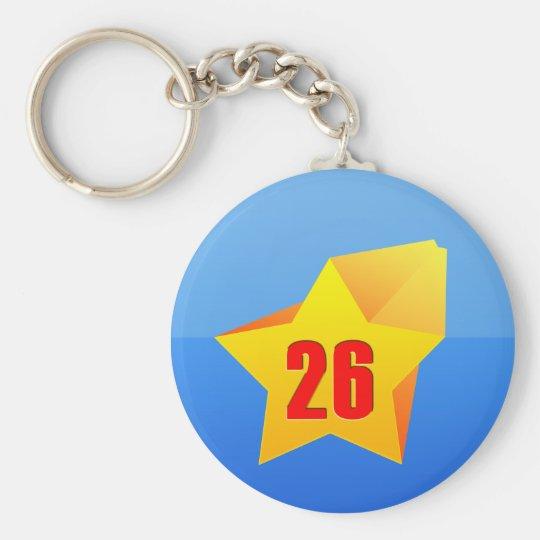 All Star Twenty Six years old! Birthday Basic Round Button Key Ring