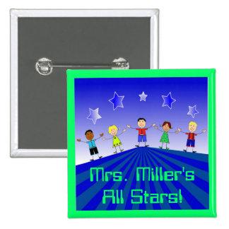 All Stars Custom Button Pin