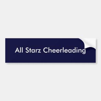 All Starz Cheerleading Car Bumper Sticker