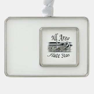 All State Area Flute Player Ornament ANY COLOR Silver Plated Framed Ornament