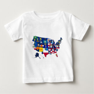 All States Flags United Baby T-Shirt