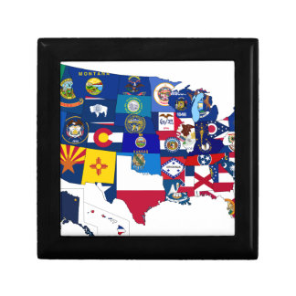 All States Flags United Gift Box