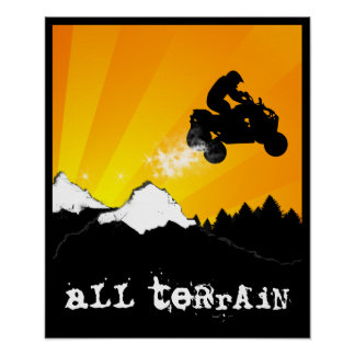 all terrain atv poster