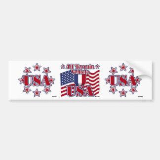 All Terrain Vehicle USA Bumper Stickers