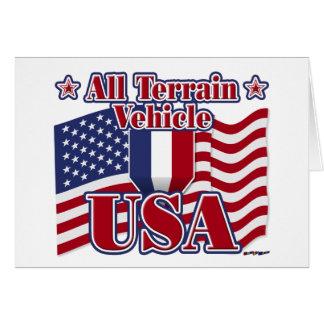 All Terrain Vehicle USA Greeting Card