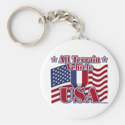 All Terrain Vehicle USA Key Chain