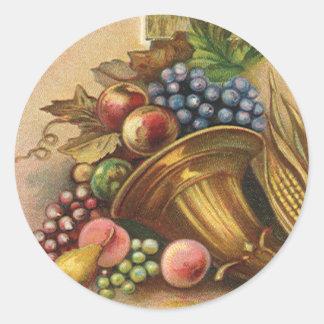 All Thanksgiving Bounty Be Thine Round Sticker
