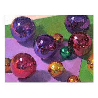 """All That Glitters"" Christmas Art Postcard"