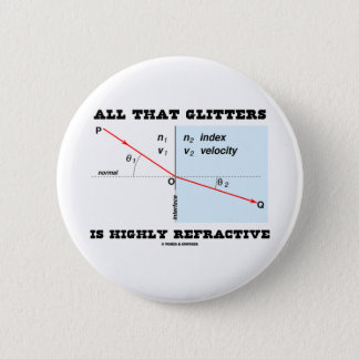 All That Glitters Is Highly Refractive (Physics) 6 Cm Round Badge
