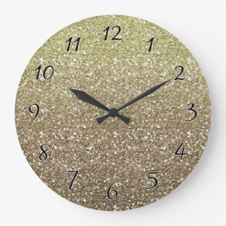All That Glitters Large Clock