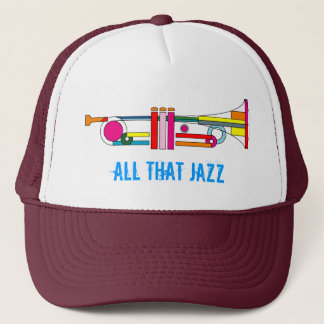 ALL THAT JAZZ COLORFUL TRUMPET TRUCKER HAT