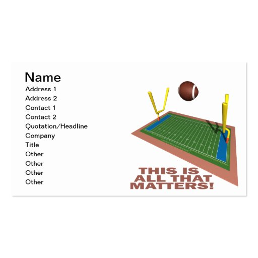 All That Matters Business Card