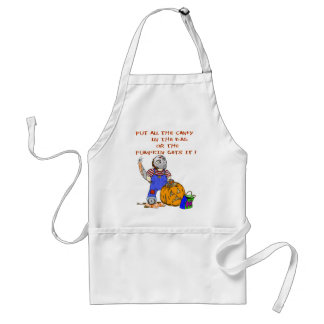 All the Candy or the Pumpkin gets it Apron