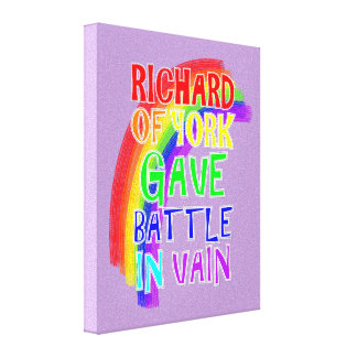 All The Colors Of The Rainbow Fun Text Saying Canvas Print