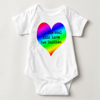 All the cool kids have two Daddies....... Baby Bodysuit