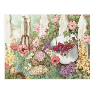All the Earth Laughs in a Garden - Picket Fence Postcard