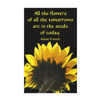 All The Flowers Sunflower Canvas Stretched Canvas Print