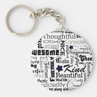 All the Good Things About You Basic Round Button Key Ring