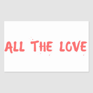 """All the Love"" - Harry Styles Rectangular Sticker"