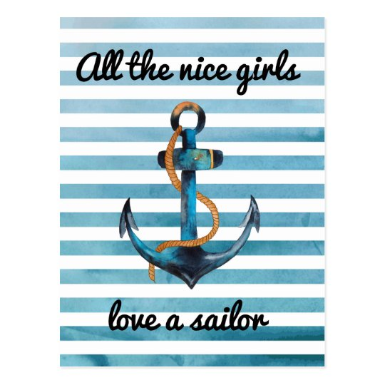 All the nice girls love a sailor postcard