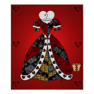 'All the Queen's Hearts' Print