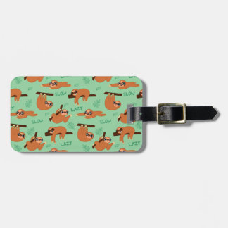 all the sloths luggage tag