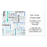 All the things a dad is to me typography pack of standard business cards