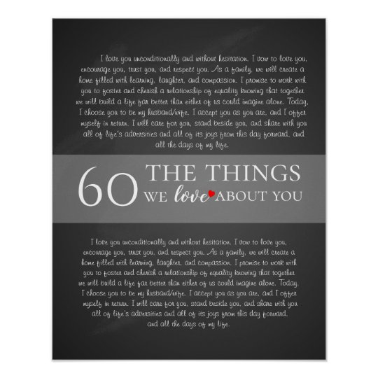 all the things we love about you, 60th
