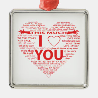 All the ways I Love You Christmas Ornament