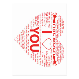 All the ways I Love You Postcard