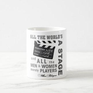 All the world's a stage basic white mug