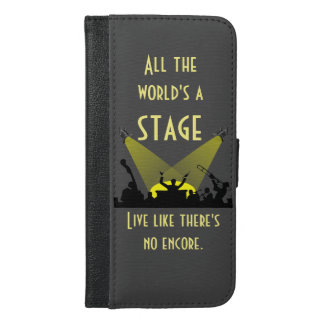 All the World's a Stage iPhone 6/6s Plus Wallet Case