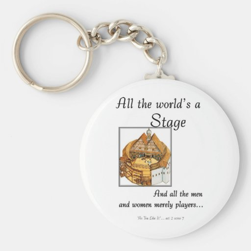 All the worlds a stage key chain