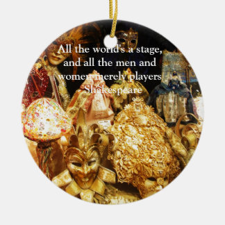 All the world's a stage Shakespeare quote Christmas Ornament