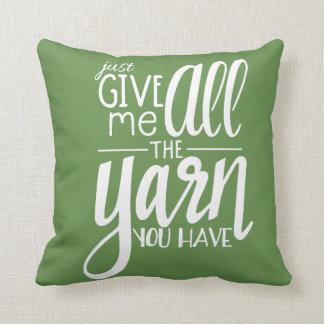 All the Yarn Cushion