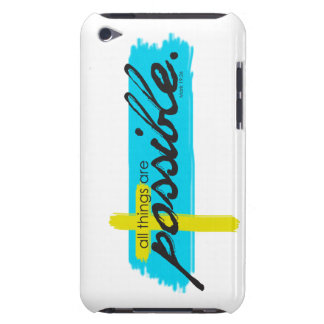 All Things Are Possible Bible Christian Inspired iPod Touch Cases
