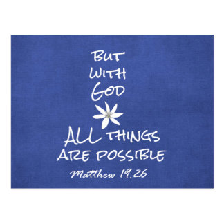 All things are Possible Bible Verse Postcard
